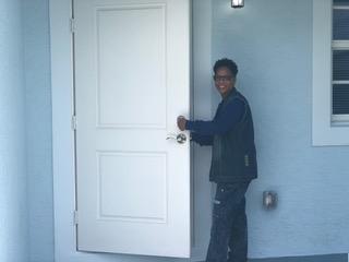 Model Block Homeowner Geraldine Cheney